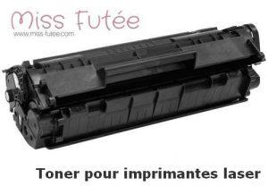 Exemple de toner pour imprimante laser