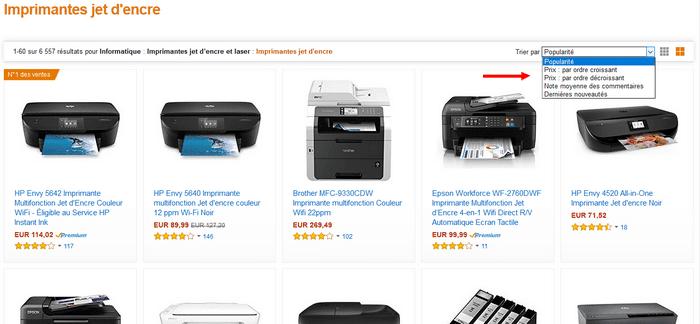 Les meilleures vente d'imprimantes jet d'encre par marque