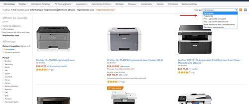Les ventes d'imprimantes laser par popularité