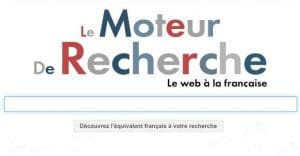 Le choix de moteur de recherche français