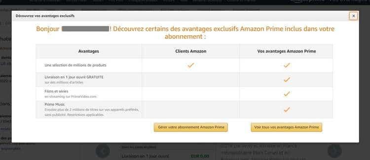 Tous les avantages du compte Amazon Prime