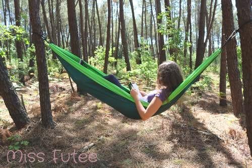 Hamac à emporter en randonnée ou en camping
