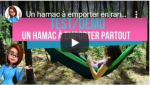 Vidéo test hamac de camping ou randonnée