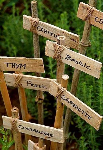 Étiquettes pour le jardin toutes simples