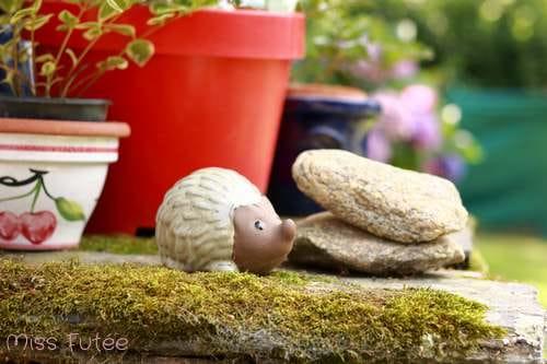 Petit hérisson en déco de jardin