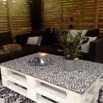 Table jardin en palettes