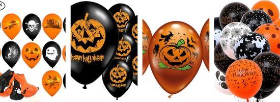 Ballons noir et orange déco Halloween