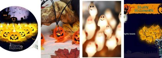 Guirlandes extérieures citrouilles Halloween