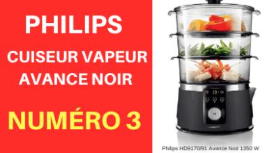 Cuit vapeur de la marque Philips modèle Avance couleur noir