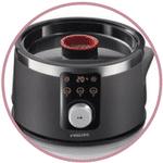 Minuteur du cuiseur vapeur Philips HD9170/91 Avance noir
