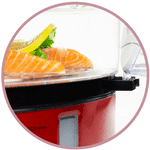 Rajout d'eau facile pour ce cuit vapeut