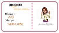 Chèque cadeau Amazon valeur 20 Euros