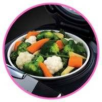 De bons légumes cuits à la vapeur