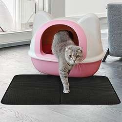 Maison de toilette pour chat avec tapis