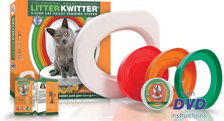 Dresser son chat à utiliser les wc avec le kit litter kwitter