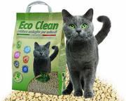 Eco clean litière végétale pour chat à base de blé