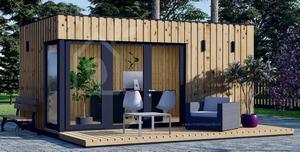 Un abri de jardin transformé en bureau extérieur